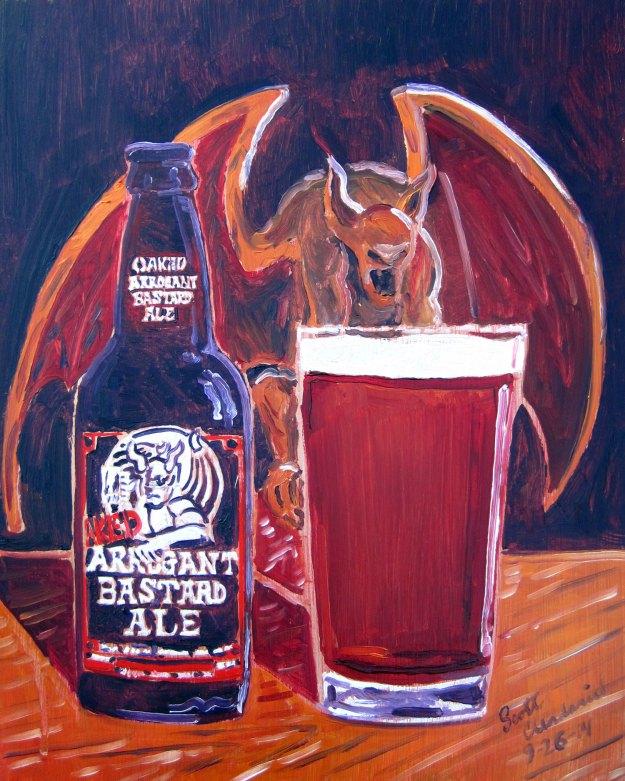 cerveja é arte - Oaked Arrogant Bastard Ale
