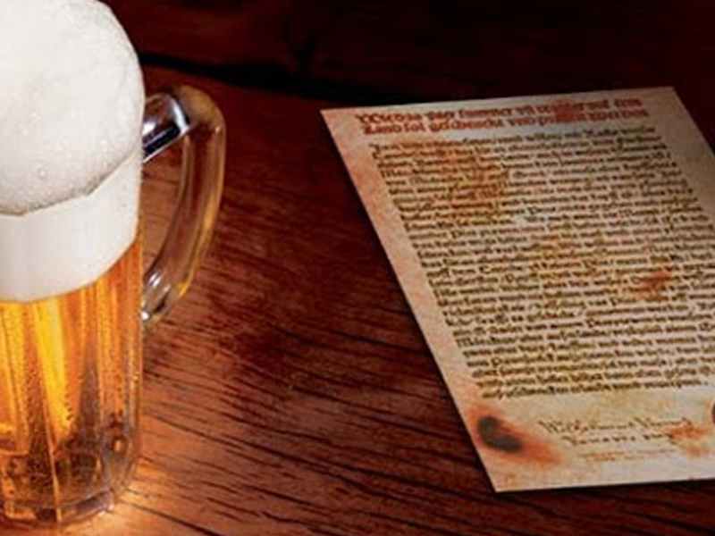 Reinheitsgebot Lei de Pureza Alema de 1516