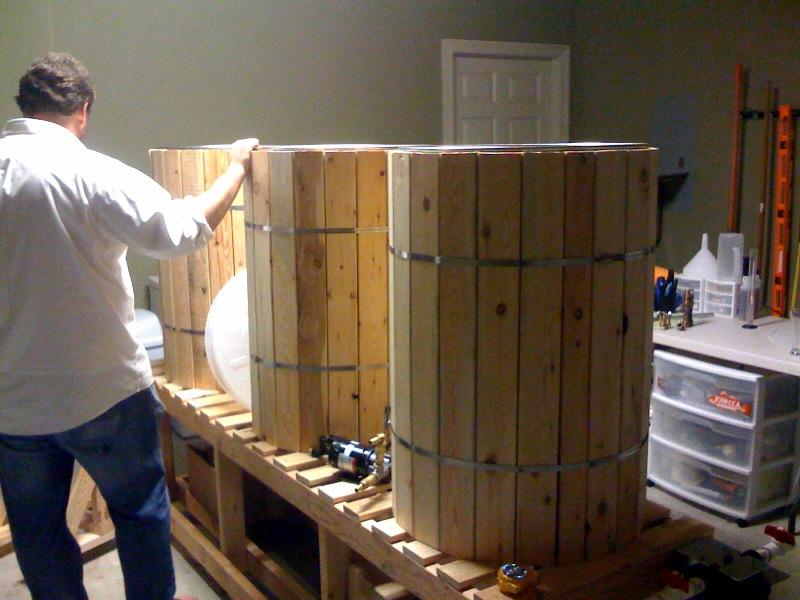 Equipamento cerveja madeira